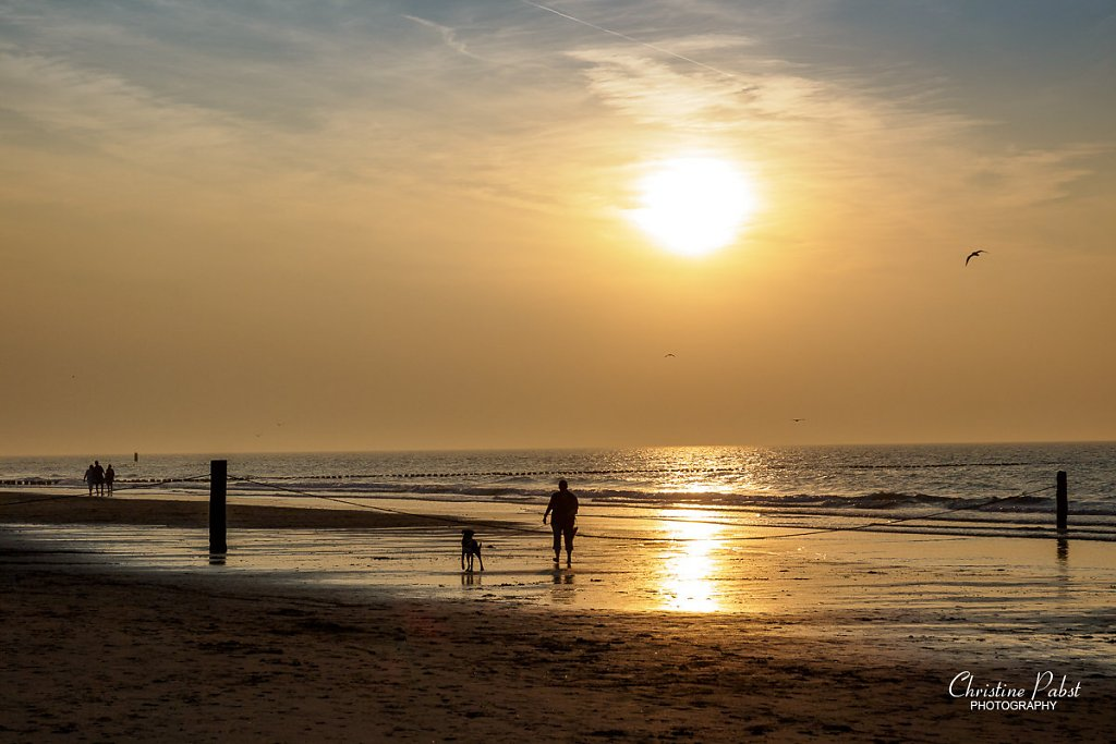 Sunset at Domburg Beach